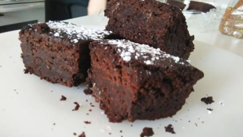 Brownie de chocolate negro