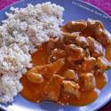 Arroz semintegral con pavo al curry